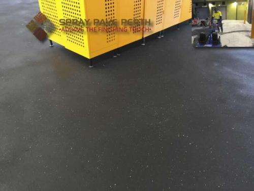 Spray Pave Perth Concrete Resurfacing Charcoal with Ash Grey Flecks Before After