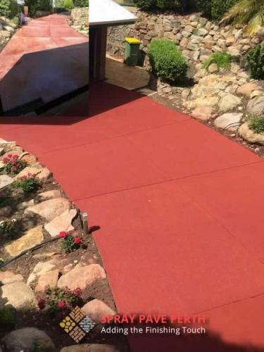 Spray Pave Perth Concrete Resurfacing Red Brick Before After