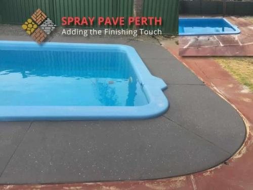 Spray Pave Perth Concrete Resurfacing  Bluestone with white  Black Flecks Before After