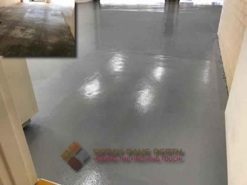 Spray Pave perth Epoxy flooring with Non Slip Grains St Johns Station Quairading WA
